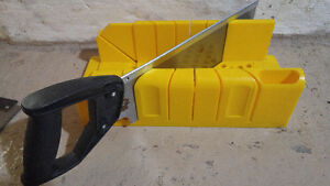 Stanley Poly Miter Box with two saws