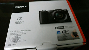 Sony a5000 with 16-50mm lens NEW IN BOX