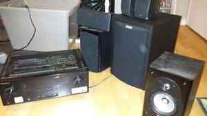 Pioneer reciever and surround great shape