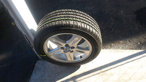 """One 17"""" Lincoln ls stock aluminum 5 star ( Westbank not pen )"""