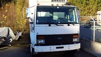 Reefer truck five ton available to work or sell