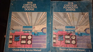 1978 Chrysler Plymouth Dodge Service Manuals