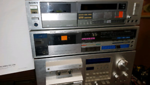 Pioneer CT F950...Teacc V 400X and Sony TC FX77 cassette decks.