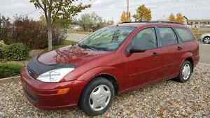 2002 Ford Focus Red Wagon
