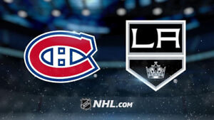 4x Blanc Central AA match d ouverture Canadiens vs Kings