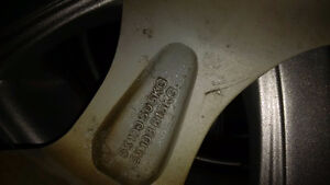 4 Winter tires and rims 205/55/r16 5-108 5-100 bolt Kitchener / Waterloo Kitchener Area image 9