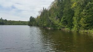 100 Acres with 3000 feet waterfront, Plevna, Land of Lakes