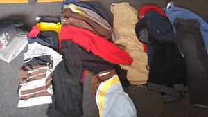 Mens size XL shirts and pants size 38
