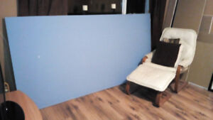 New blue Sheet of drywall  $15  and many left over pieces  $15