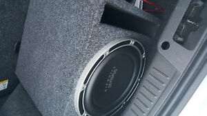 "Hifonics 12"" Subwoofer + ported box + amplifier"