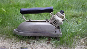 Old Heavy Duty Clothes Iron with Trivet
