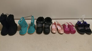 Qty-6 brand new shoes with tags - $30