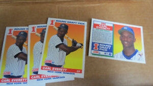 Carl Everett MLB rookie cards(4)
