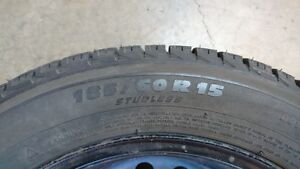 185/60R15   X-ICE WINTER TIRES WITH WHEELS