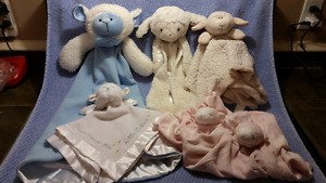 Baby LAMB Lovey Cuddly Snuggly SECURITY BLANKETS, Easter Ideas