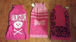 Doggy sweaters and shirts girls xl