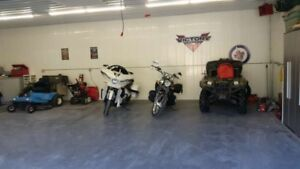 indoor motorcycle & snowmobile storage or trailer for rent