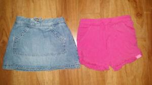 Short rose mexx 12-18 mois jupe jeans 2t