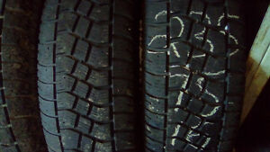 Two 235 75 16 winter tires.