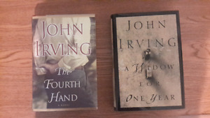 Pair of John Irving Hardcover Books.