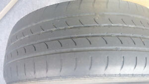 Steel Kia Rims - Tires Attached