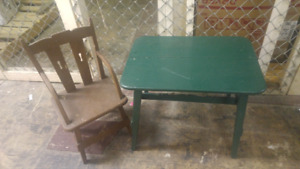 Childs Chair and table