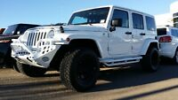 2014 JEEP WRANGLER UNLIMITED MANUAL LIFTED BUMPERS FRONT & BACK