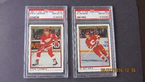 PSA 10 graded hockey cards.