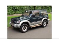 1996 N REG PAJERO 2.8 AUTO TD BEST MODEL WINTER PACK SWB MODEL LOW MILLAGE BARGAIN 12 MONTH MOT