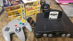 Nintendo 64 + 9 games 1 controller adult owned