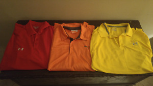 UnderArmour and Puma shirts