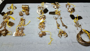 CHAINS, BRACELETS, RINGS, PENDENTS, GOLD FILLED JEWELRY . LIFE T