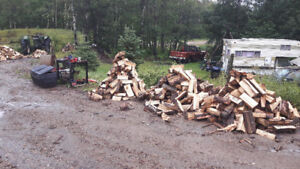 TIMMERS FIREWOOD DELIVERY$100  1/3 CORD SPLIT DRY POPLAR STACKED