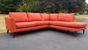 FREE DELIVERY Cool Mid Century Styl Designer SHOW HOME Sectional