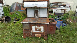 Old wood cook stove