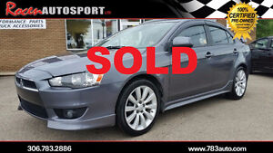 SOLD!!!CERTIFIED 2009 Mitsubishi Lancer GT - SUN+SOUND - YORKTON