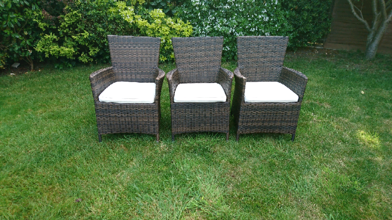 bd619e597fb3 6 X Rattan garden chairs for sale | in Rochester, Kent | Gumtree