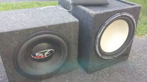 350 watt amp 2 12 inch subs and a aftermarket deck
