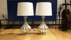 Gorgeous pair of lamps - perfect condition