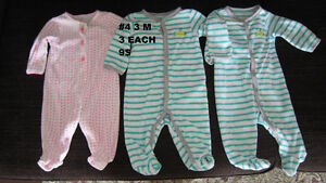 Baby girl clothes 0 to 3 months. Sleepers. London Ontario image 2