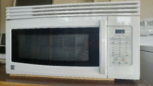 White Kenmore Over-the-range Exhaust Microwave