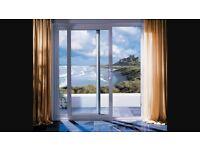 Upvc double sliding doors exterior/interior