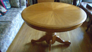 Furniture Oak Dinette Table and Four Chairs - $300