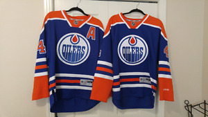 Hall and eberle oilers jerseys