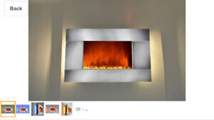 Brand new wall mounting fireplace