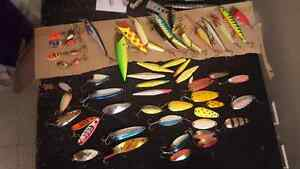 Assorted reclaimed lures, spoons, plugs, Rapala (Price Redux)
