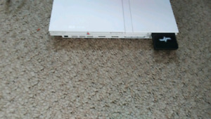 White ps2 slim and 10 games