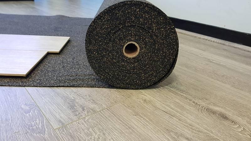 2mm Cork Rubber Underlay 7 50 Per M2, Rubber Laminate Flooring