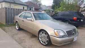 1997 Mercedes S500 2 door coupe 20 inch Giovanni staggered rims