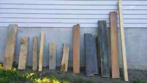 Rough cut hardwood lumber